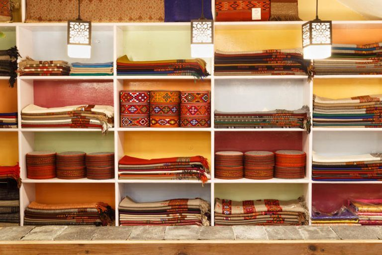 Woolen items for sale at Wool Cafe in Naggar