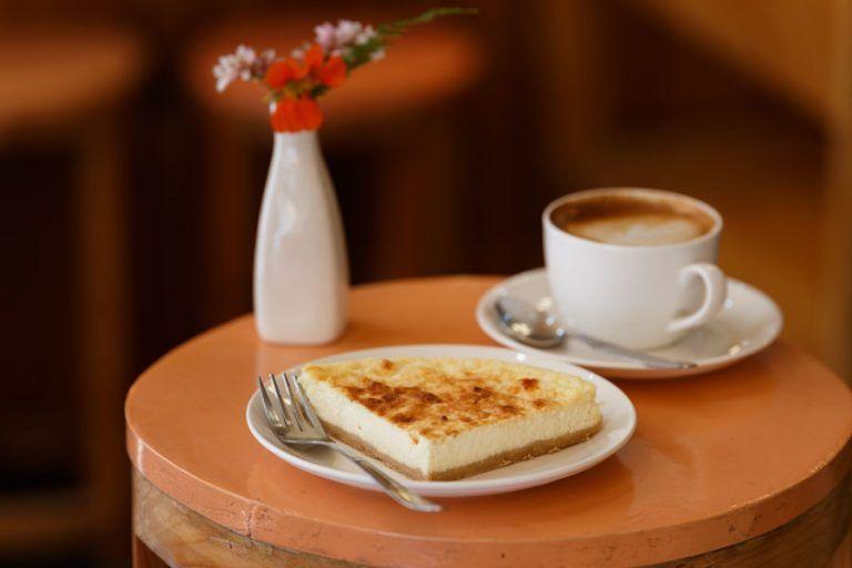 Cheesecake at Wool Cafe in Naggar