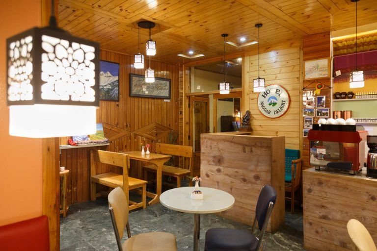 Interiors of Wool Cafe in Naggar