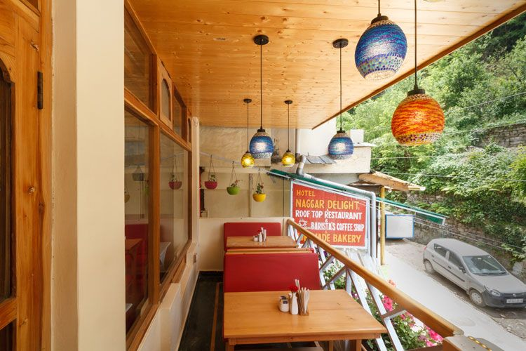 First floor of Wool cafe in Naggar